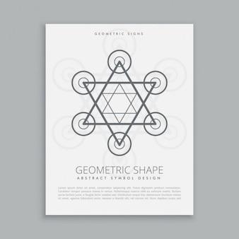 Símbolo moderno geometria sagrada