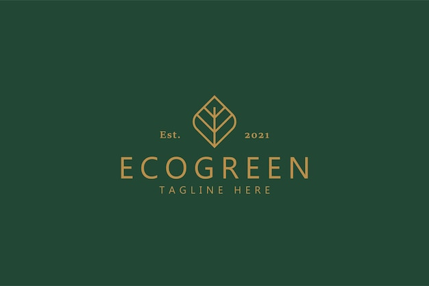 Símbolo orgânico do conceito de logotipo de estilo vintage ecogreen. bio business company.