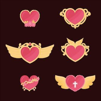 Símbolo religioso do coração sagrado