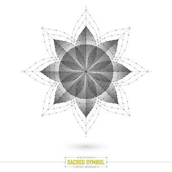 Símbolo sagrado esotérico mandala