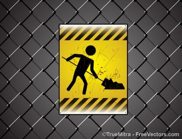 Símbolo sob vetor de construção