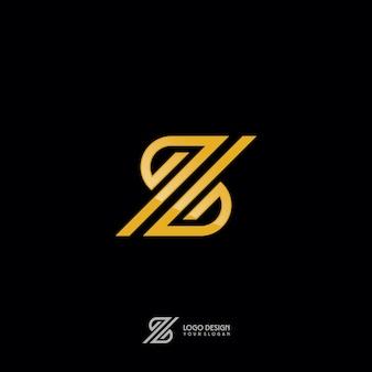 Símbolo z em estilo monograma de ouro