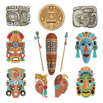 Símbolos antigos maias e imagens