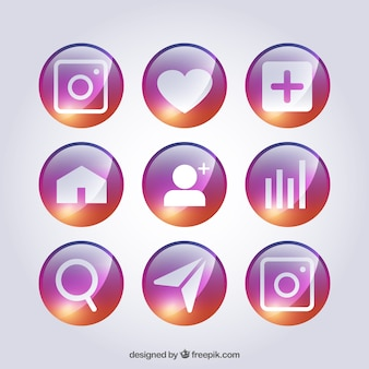 Símbolos coloridos para redes sociais