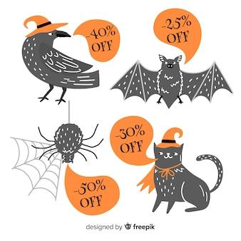 Símbolos de animais de halloween para vendas