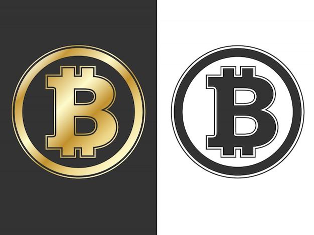 Símbolos de bitcoin de moeda criptografada