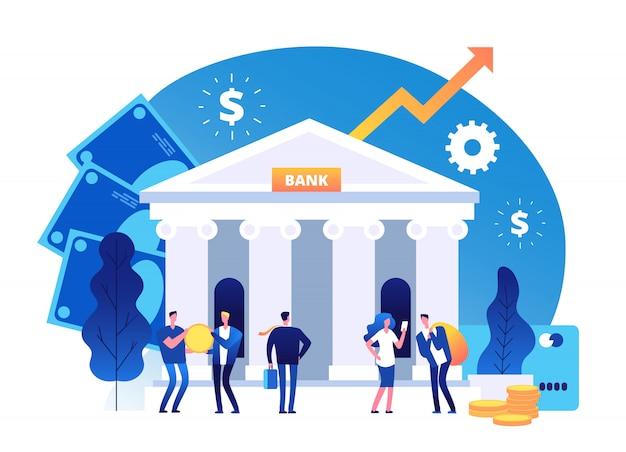Símbolos de crescimento de riqueza de investimento bancário.