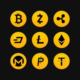 Símbolos de criptomoeda