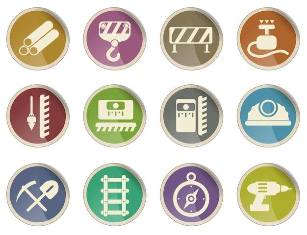 Símbolos de equipamentos de construção