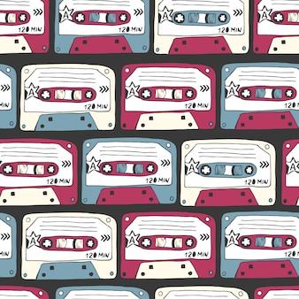 Símbolos de música. padrão sem emenda de música rock.