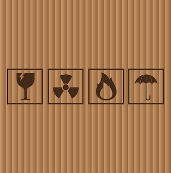 Símbolos de papelão, ilustração vetorial