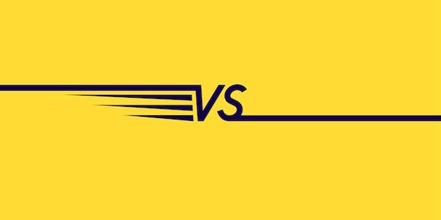 Símbolos de pôster brilhante de confronto vs ilustração vetorial no fundo amarelo