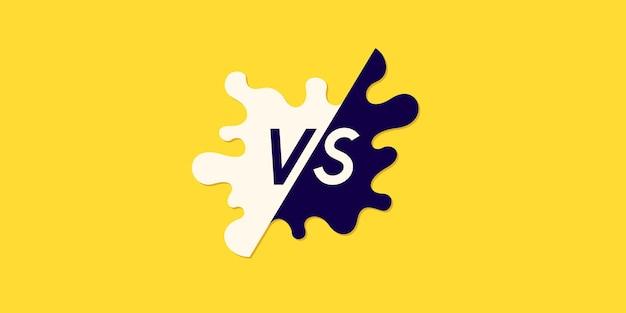 Símbolos de pôster brilhante de confronto vs ilustração vetorial
