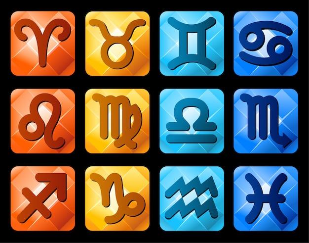 Símbolos de signos do zodíaco