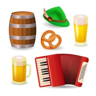 Símbolos do festival de cerveja na alemanha