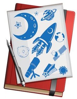 Símbolos do livro e da ciência