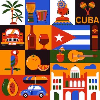 Símbolos do turismo de cuba havana