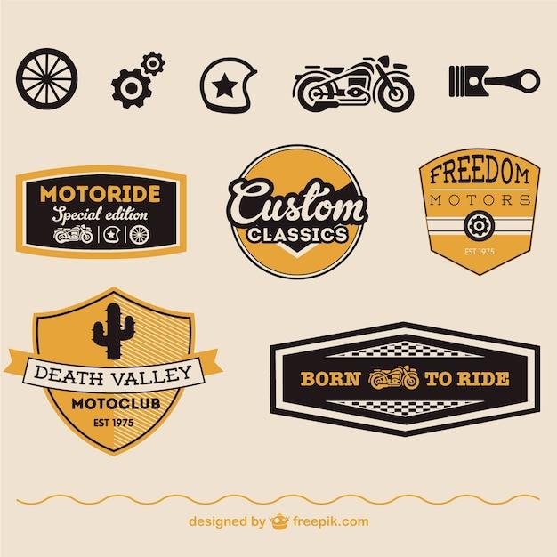 Símbolos do vetor da motocicleta livre