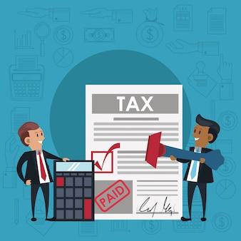 Símbolos e desenhos do dia do imposto