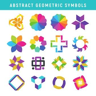 Símbolos geométricos abstratos