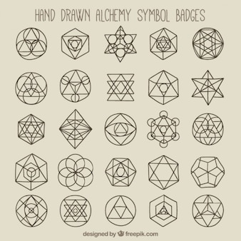 Símbolos geométricos e distintivos
