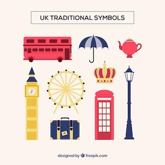 Símbolos tradicionais do reino unido