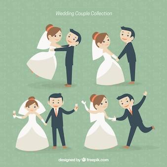 Simpático casal de noivos