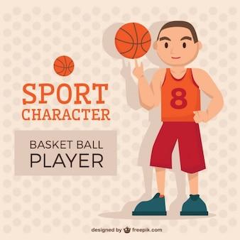 Simpático personagem de basquete