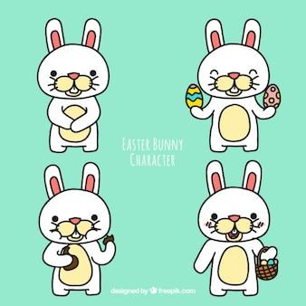 Simpático personagem do coelhinho da páscoa