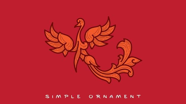 Simple ornamen phoenix