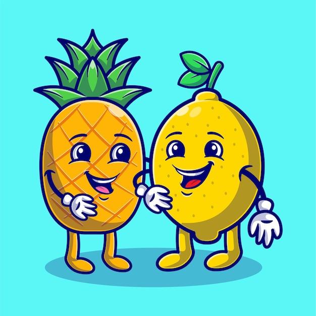 Simples de limão e abacaxi fofo