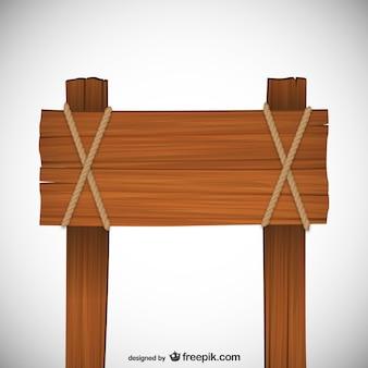 Simples de madeira sinal vector
