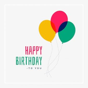 Simples design de saudação de feliz aniversário