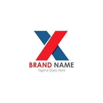 Simples e moderno logotipo da letra x