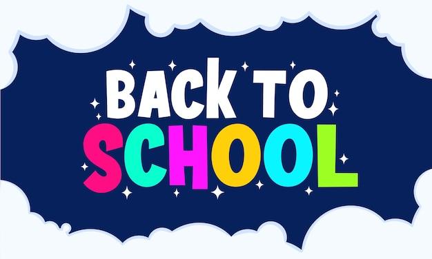 Simples e plano de volta à escola