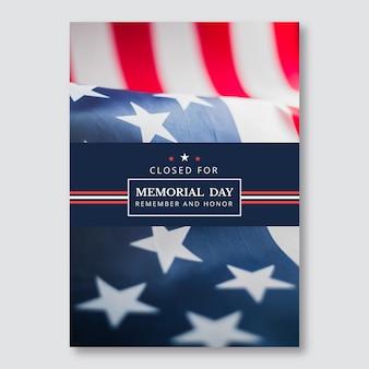 Simples fechado para pôster geral do memorial day