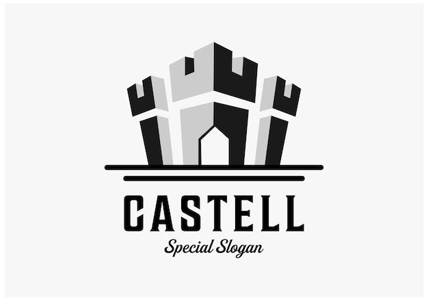 Simples inspirações de design de logotipo de castelo