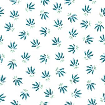 Simples padrão floral sem emenda. paleta de cores quentes.