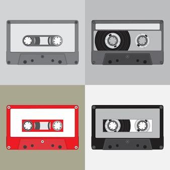 Simplicidade de fita de música antiga
