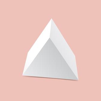 Simulação de caixa de presente triangular