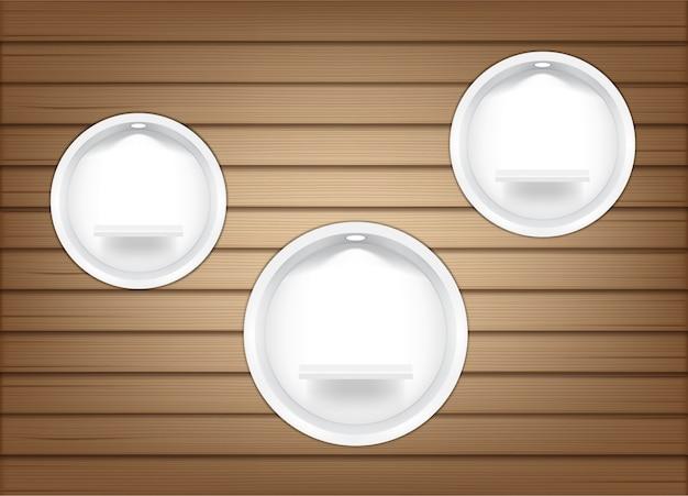 Simulação de prateleiras de círculo vazio realistas