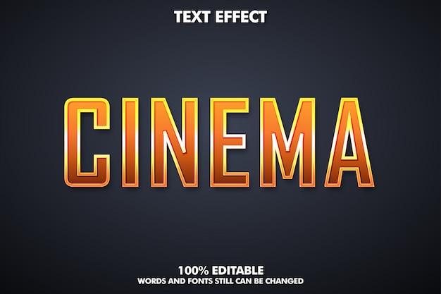 Simulação de texto cinematográfico, efeito de texto moderno para o título do filme
