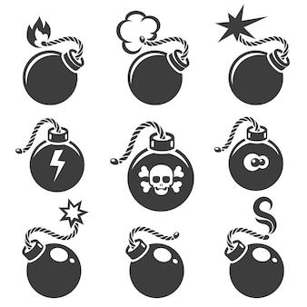 Sinais de bomba ou símbolos de bomba