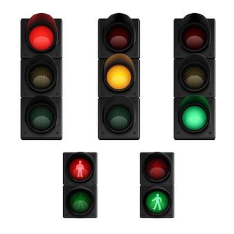 Sinais de luzes de stop de tráfego