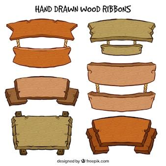 Sinais de madeira bonito