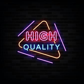 Sinais de néon de alta qualidade. modelo de estilo neon