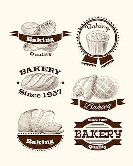 Sinais de pastelaria e pão