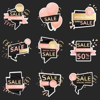 Sinais de venda festiva
