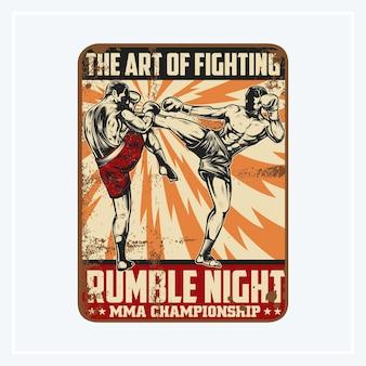 Sinais do campeonato de noite rumble