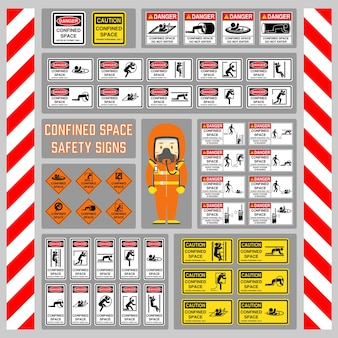 Sinais e símbolos para uso como aviso de segurança e regulação